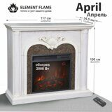 Каминокомплект Element Flame April 23 WT